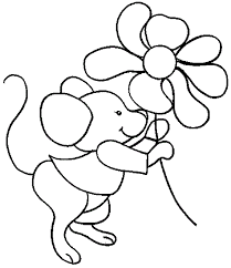 Cool Cartoon Mouse Coloring Page For Computer