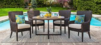 Gensun Patio Furniture Cushions by 5 Piece Outdoor Patio Furniture Dining Set By Ebel