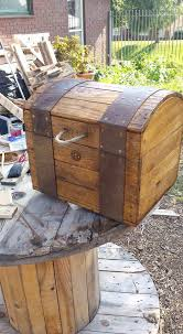 Treasure Chest Out Of Repurposed Pallet Wood Treasure Chest