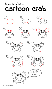 How To Draw Crab Easy Drawing Step By Perfect For Kids