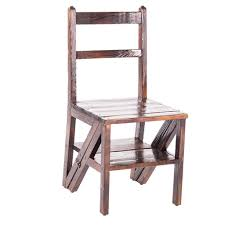 FOLDSS 3-story Stair Stool With Solid Wood Folding Step Stool, Indoor  Anti-skid Pedal High Ladder, Multi-functional Safety Trapezoidal Stool, ...