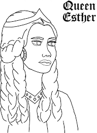 Queen Esther Picture Colouring Page Coloring