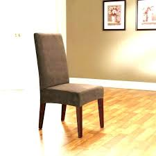 Stretch Dining Chair Covers Counter Height Tall Cover Room Brown Velvet With