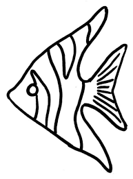 Craft Pattern Angel Fish Coloring Page