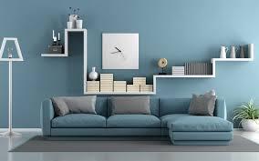 herunterladen hintergrundbild blaue wohnzimmer 4k blue