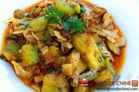 cuisiner le chou chinois cuit aubergine au chou chinois pime recette chinoise