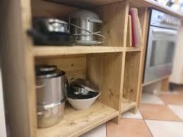 küchenschrank selber bauen aus bauholz pommes män