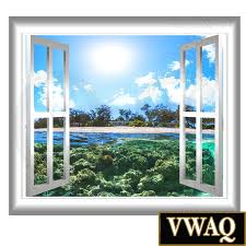 Wall Mural Decals Beach by Underwater Beach Scene Window Graphics View Wall Decal Wall Mural