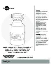 insinkerator badger 5 manuals