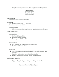 Work Experience Resume Examples Example Ii Limited L Little