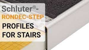 Schluter Tile Trim Uk by How To Install Tile Trim On Stairs Schluter Rondec Step Profile