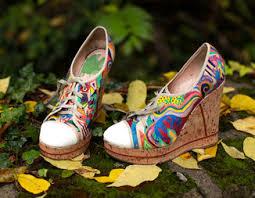 Vintage Shoes Art Painting Drawing Artwork Heels