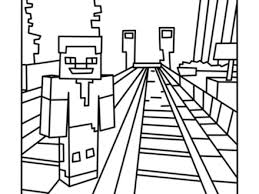 Minecraft Rails Coloring Pages Free Printable