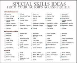 Bunch Ideas Of Acting Resume Special Skills List Best