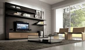modern white wall unit clear glass and black frame cabinet with