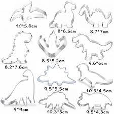 dinosaurier ausstecher fondant ausstecher für kinder die kekse backen edelstahl ausstecher set dinosaurier ausstecher