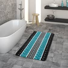 badematte kurzflor teppich für badezimmer mit muster 3 d