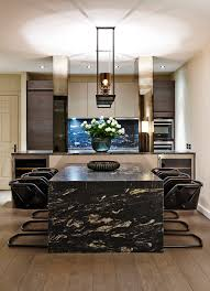 Marble Dining Table Room Modern With Breakfast Bar