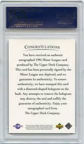 1993 Upper Deck Top Prospect Derek Jeter by Lot Detail 1995 Upper Deck Minor League Autograph Derek Jeter Rc