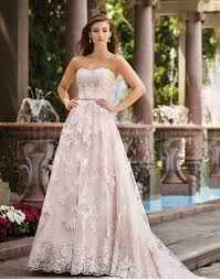 pink wedding dresses ruffled