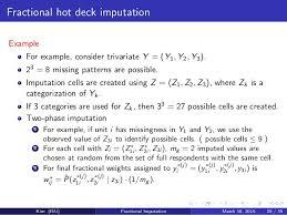 fractional hot deck imputation jae kim