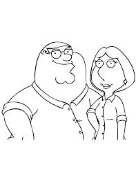 Family Guy Coloring Pages Peter And Lois