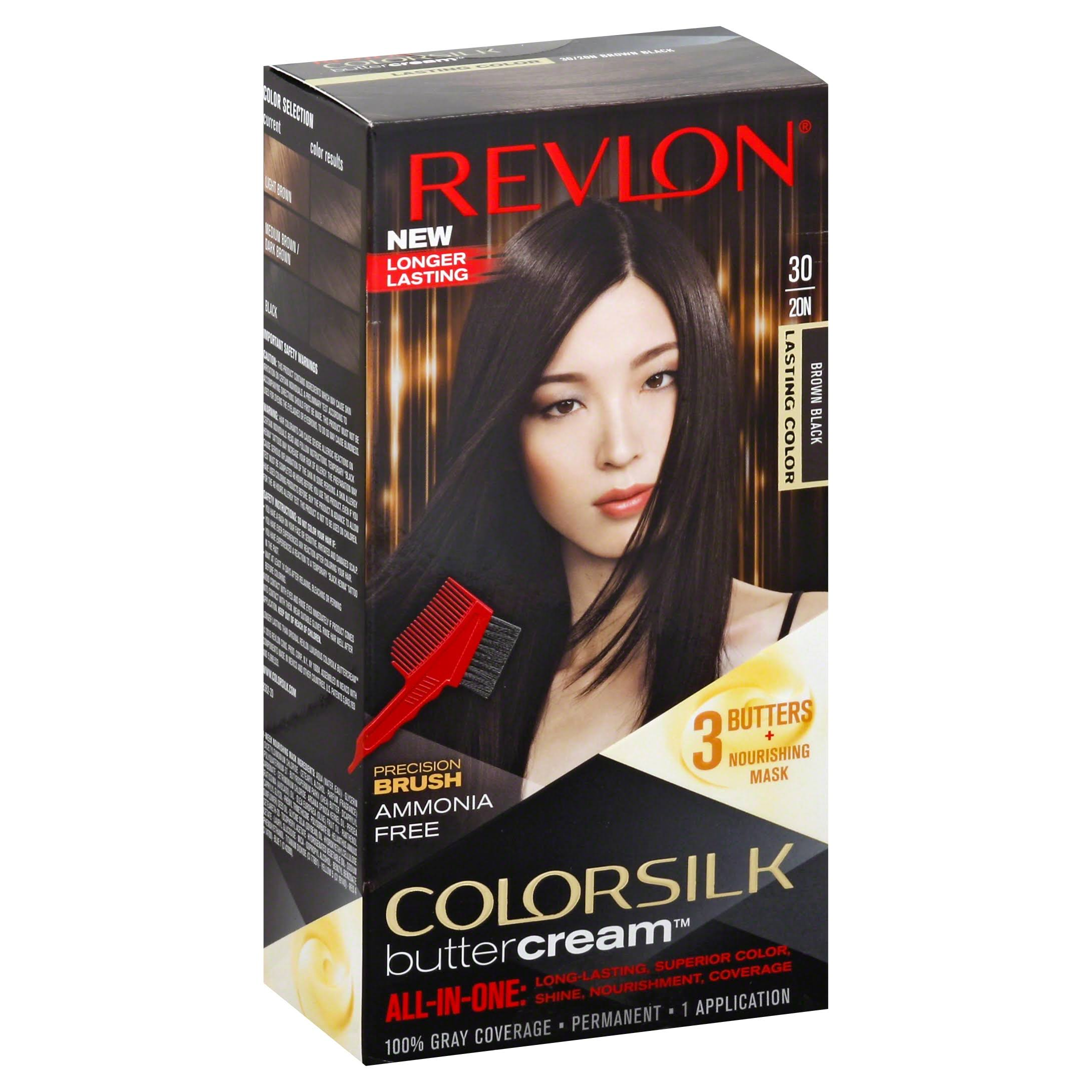 Revlon Colorsilk Buttercream Hair Color - 30 Brown Black