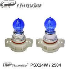 gp thunder 7500k psx24w white xenon halogen light bulbs pair