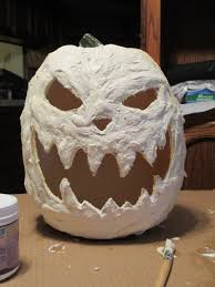 Fake Carvable Foam Pumpkins by A Craft Store Foam Pumpkin Gets Extra Scary With A Coat Of Latex