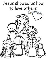 Vibrant Design Love One Another Coloring Pages Page Breadedcat Free