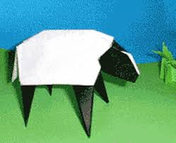 Origami Instructions Sheep 3D