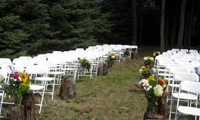 Image Of Rustic Outdoor Wedding Aisle Decorations