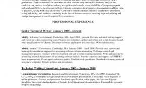 Technical Writer With No Experience Resume Examples Fresh Summary Content Samples Wonderful