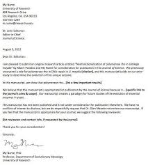 Journal Submission Cover Letter Article