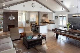 Kitchen Dining Room Combo Floor Plans Elegant As Open Plan And Living