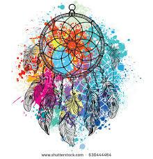 Dreamcatcher Against A Background Of Colorful Splash