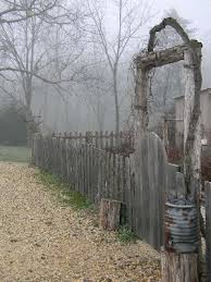 Old Wooden Garden Fence And Gate Sweet