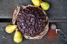veganer schoko birnen kuchen profumo di frangipani