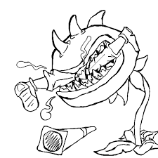 Plants Vs Zombies Coloring Pages Chomper Eat Zombie