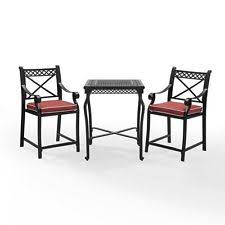 3 Piece Bar Height Patio Bistro Set by Bar Height Bistro Set Ebay