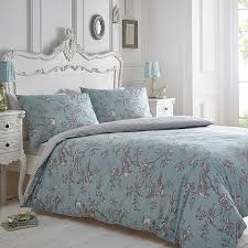 Debenhams Blue and grey print Curious Bird bedding set