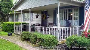 Maryannes Porch Has A Decorative Star Next To The Front Door