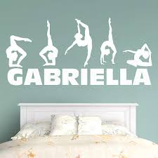 Fathead Princess Wall Decor by Gymnastics Personalized Name Fathead Wall Decal Gymnastics Room