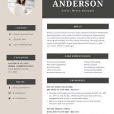 Cream And Gray Modern Resume Templates By Canva