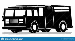 Silhouette Of A Fire Truck, Vector Draw Stock Vector - Illustration ...