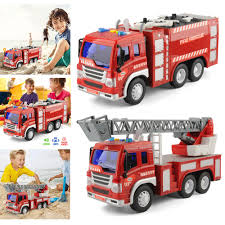 2 X LARGE Fire Rescue Extinguisher Engine Truck Toys Ladder Tools ...