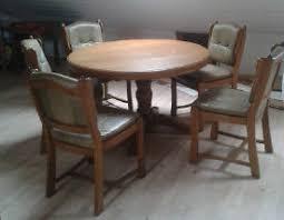 runder echtholztisch ausziehbar mit 6 stühlen echt