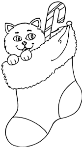 Christmas Cat Coloring Pages 8