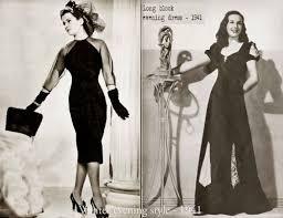 1940s Winter Evening Styles 1941