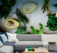 fototapete für küche avocado und gewürze